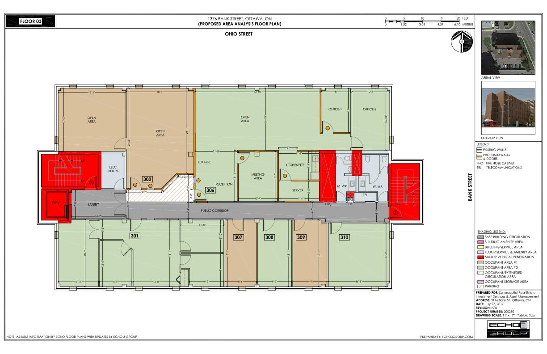 See Unit 302, approx 800 sq ft, on 3rd floor floor plan - Sarahkirwan.ca